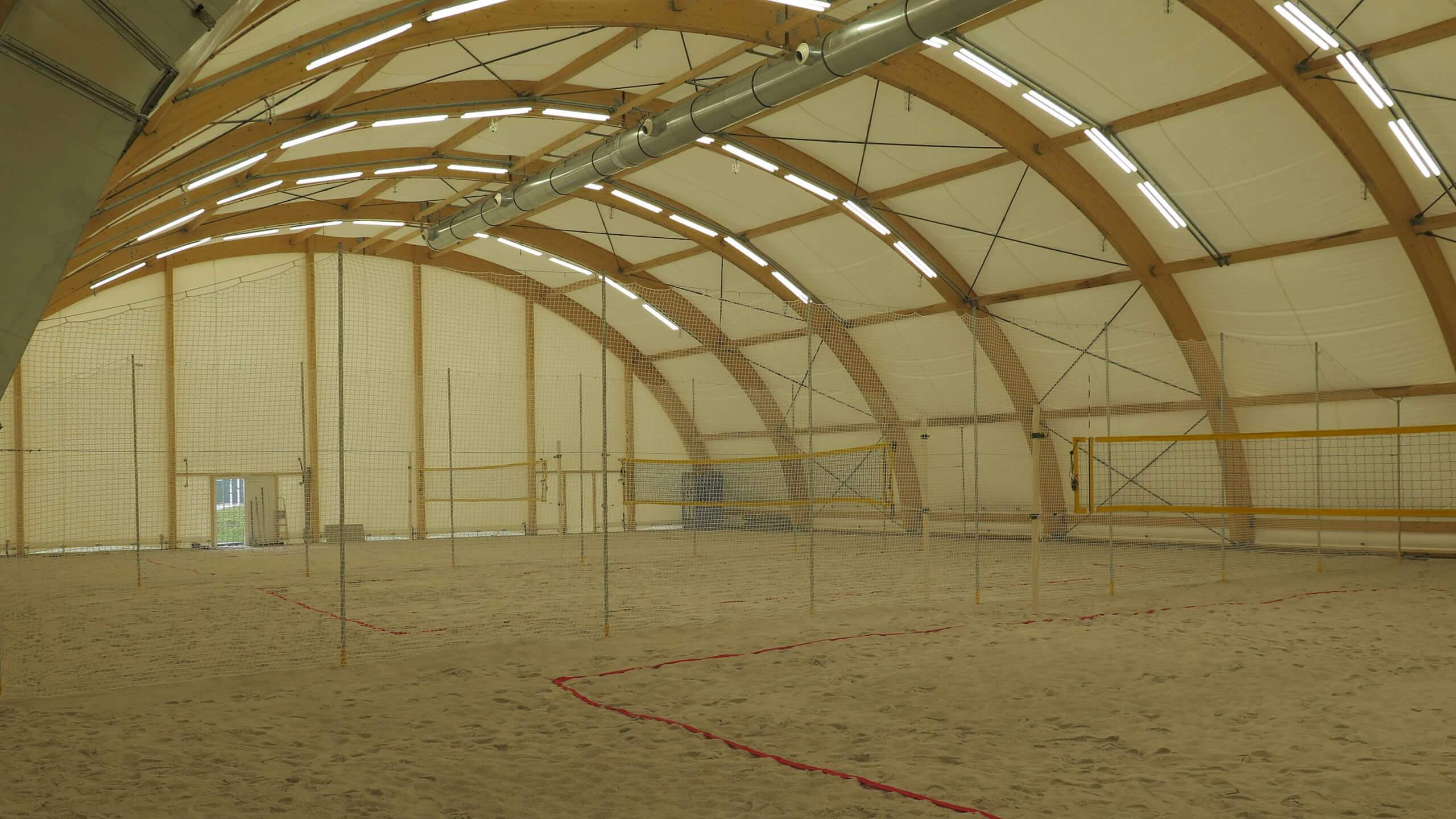 Krytá hala beach volejbal Pardubice